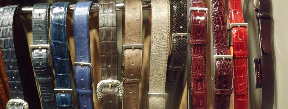 produits revenge Hom ceintures cuir exotique